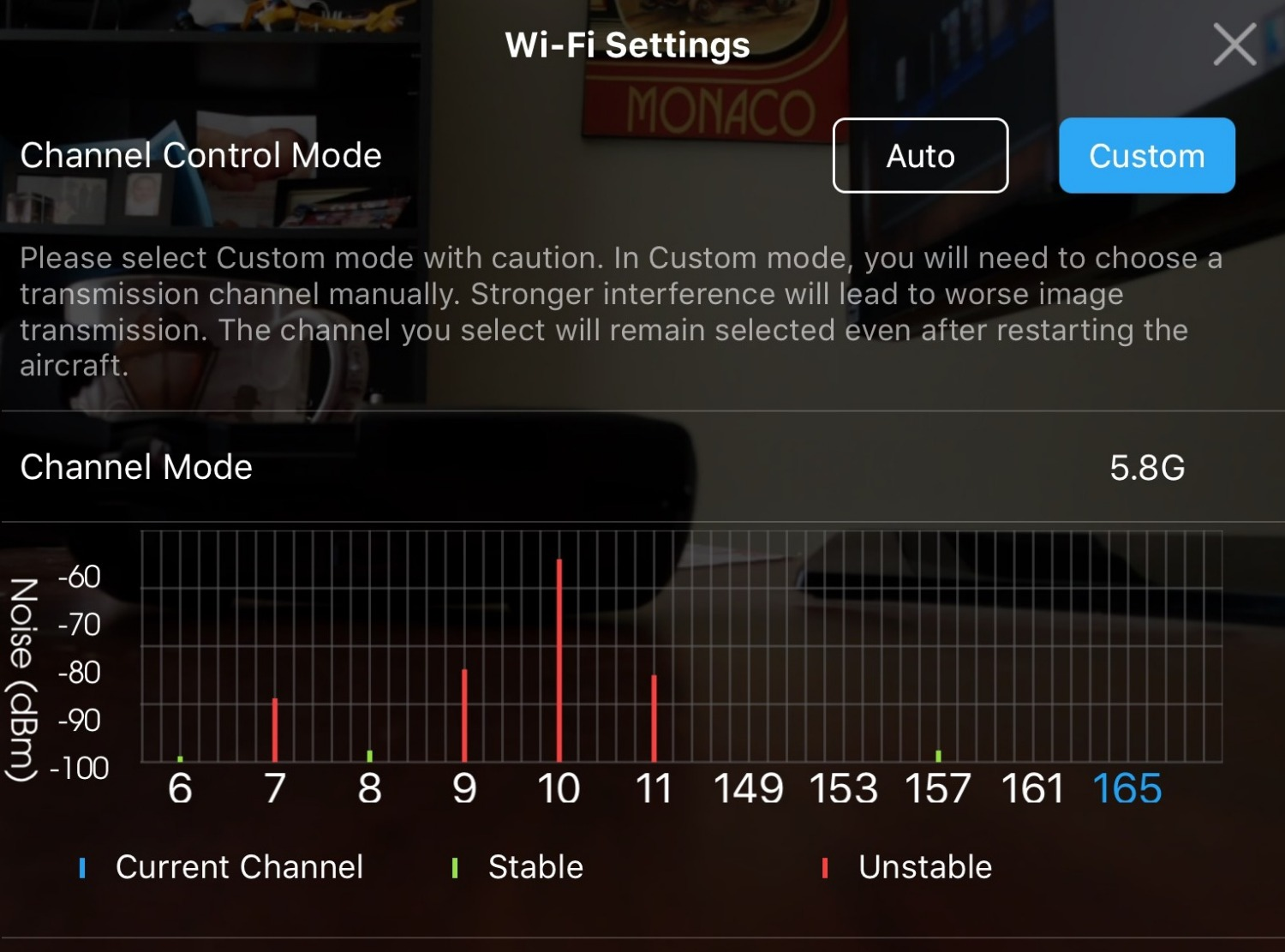 Cannot change connection frequency   DJI FORUM