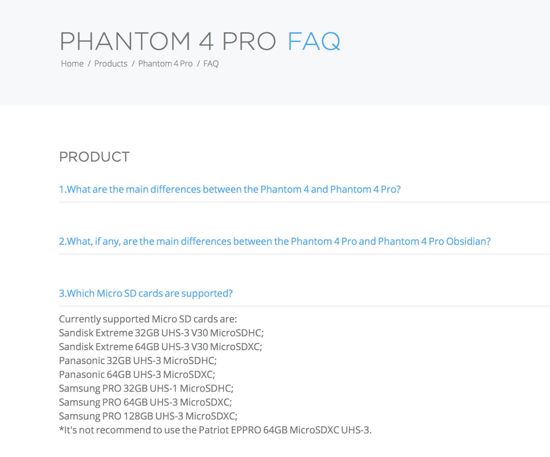 Phantom 4 Pro SERIOUS SD card issues! | DJI FORUM